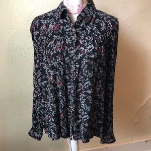 Anthropologie Maeve Floral Button Down Top 4 NWT